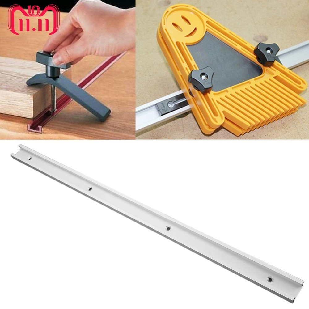 цена на 600mm/24 Inch Standard Aluminium T-track Woodworking T-slot Miter Track/Slot For Router Table
