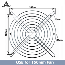 20 Pieces 150mm 15cm Fan Grilss Mental Cover Case 15050 AC Fans Finger Protector Guard