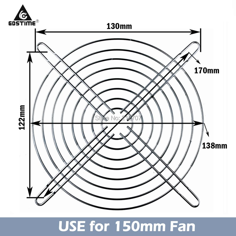 20 peças 150 milímetros 15 centímetros Fã Tampa Do Ventilador Caso Mental Grilss 15050 Fãs AC Finger Guard Protector