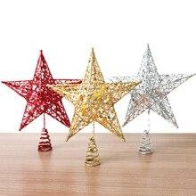 Новинка, Рождественские Елочные верхние украшения, звезды для дома, настольные топперы, декоративные аксессуары, Рождественские декоративные принадлежности