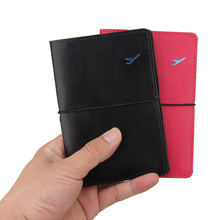 Fashion Men Women Travel Artificial Leather Passport Holder Card Case Protector Cover Wallet Bags