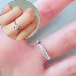 DIY Tightener Reducer Jewelry Parts Protection Transparent Spring Rope Ring Size Adjuster Resizing Tools Vintage Spiral Based