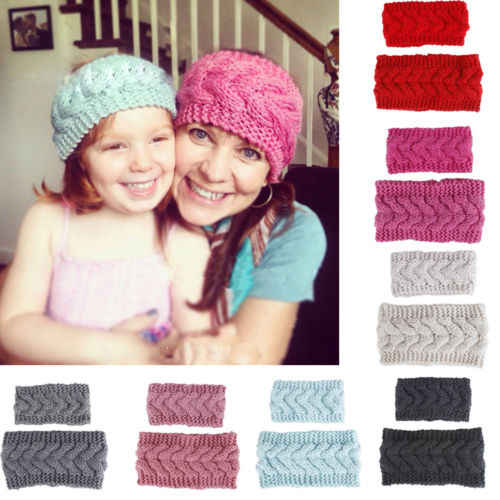 15b5730f4b7 Detail Feedback Questions about 2018 Multitrust Brand Winter Mom Baby  Family Matching Woolen Knitting Hairband Headband Turban Head Wrap Solid  Sets on ...