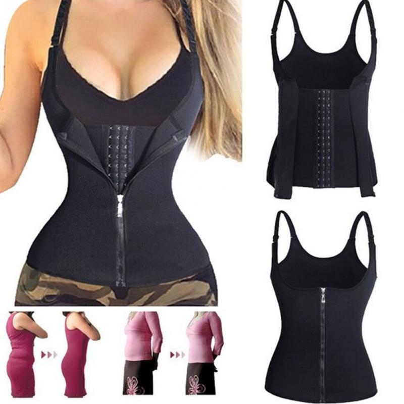 Neoprene da roupa do corpo da corte do abdômen do corpo das senhoras do tipo do zíper 3 camadas do corpo do colete da sudação de pano que dá forma à roupa.