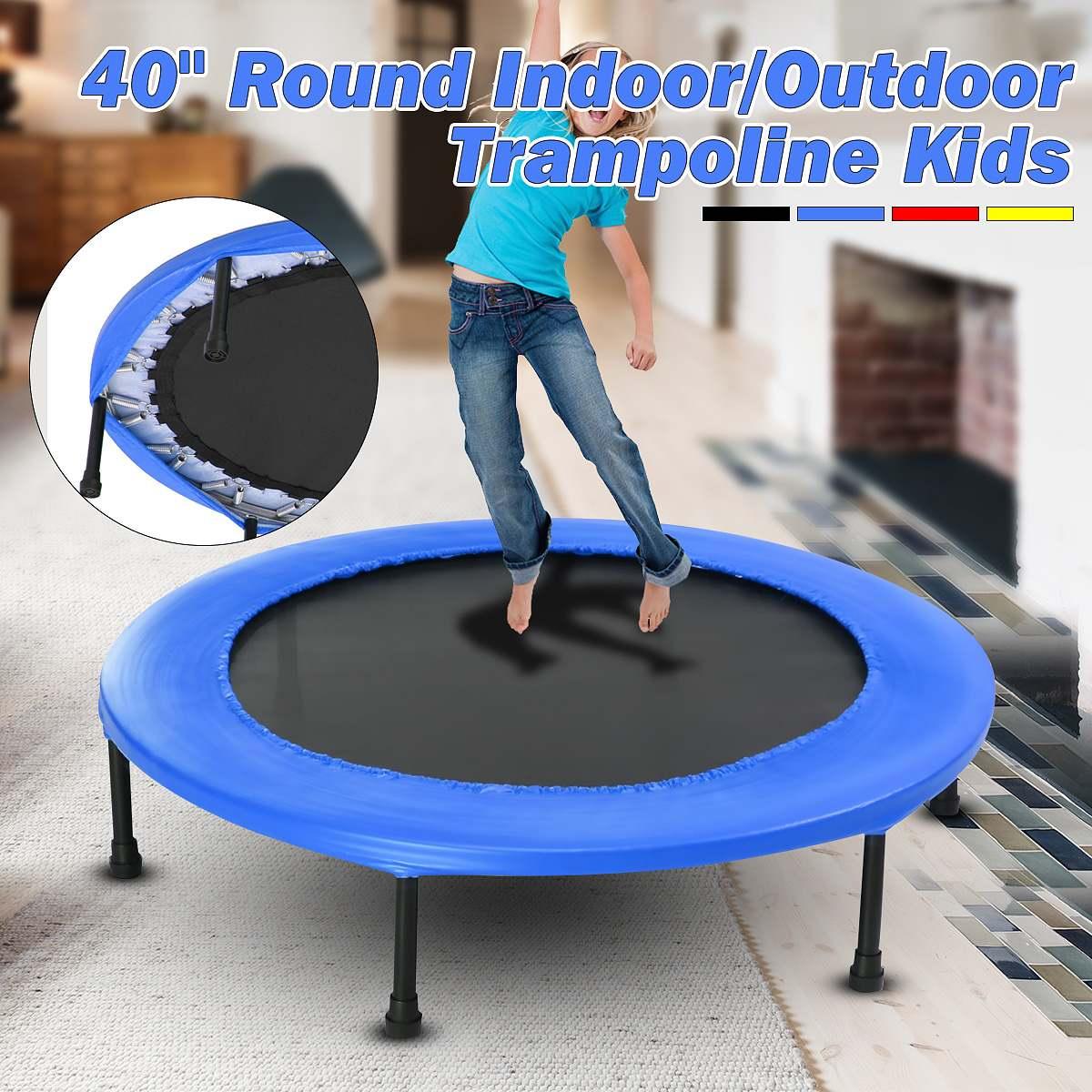40 pouces rond enfants Mini Trampoline remise en forme Rebounder survêtement maison Gym exercice sport équipement de protection
