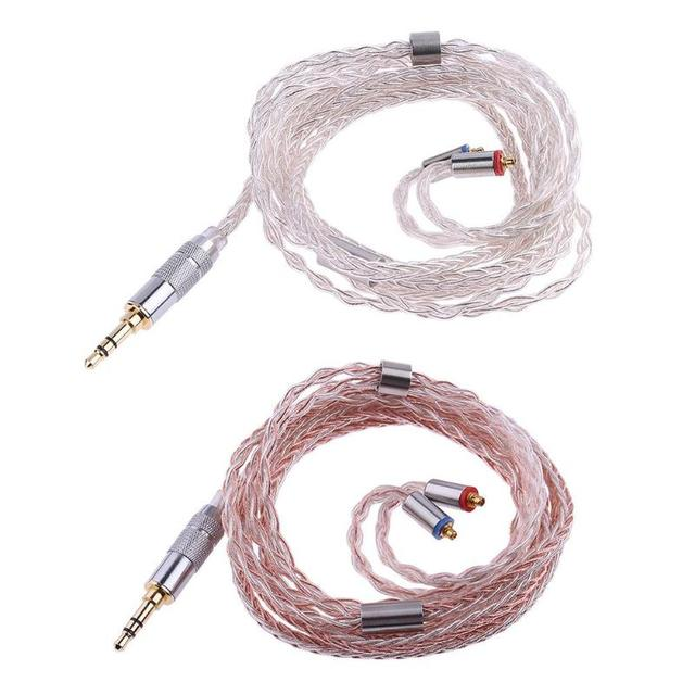 8-Core Balanced Straight Head Earphone MMCX 1.2m/3.93ft Cable for Shure