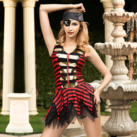 JSY Porno Women Pirate Cosplay Sexy Underwear Babydoll Lingerie Sexy Hot Erotic Dress Sleepwear Erotic Lingerie Porno Costumes