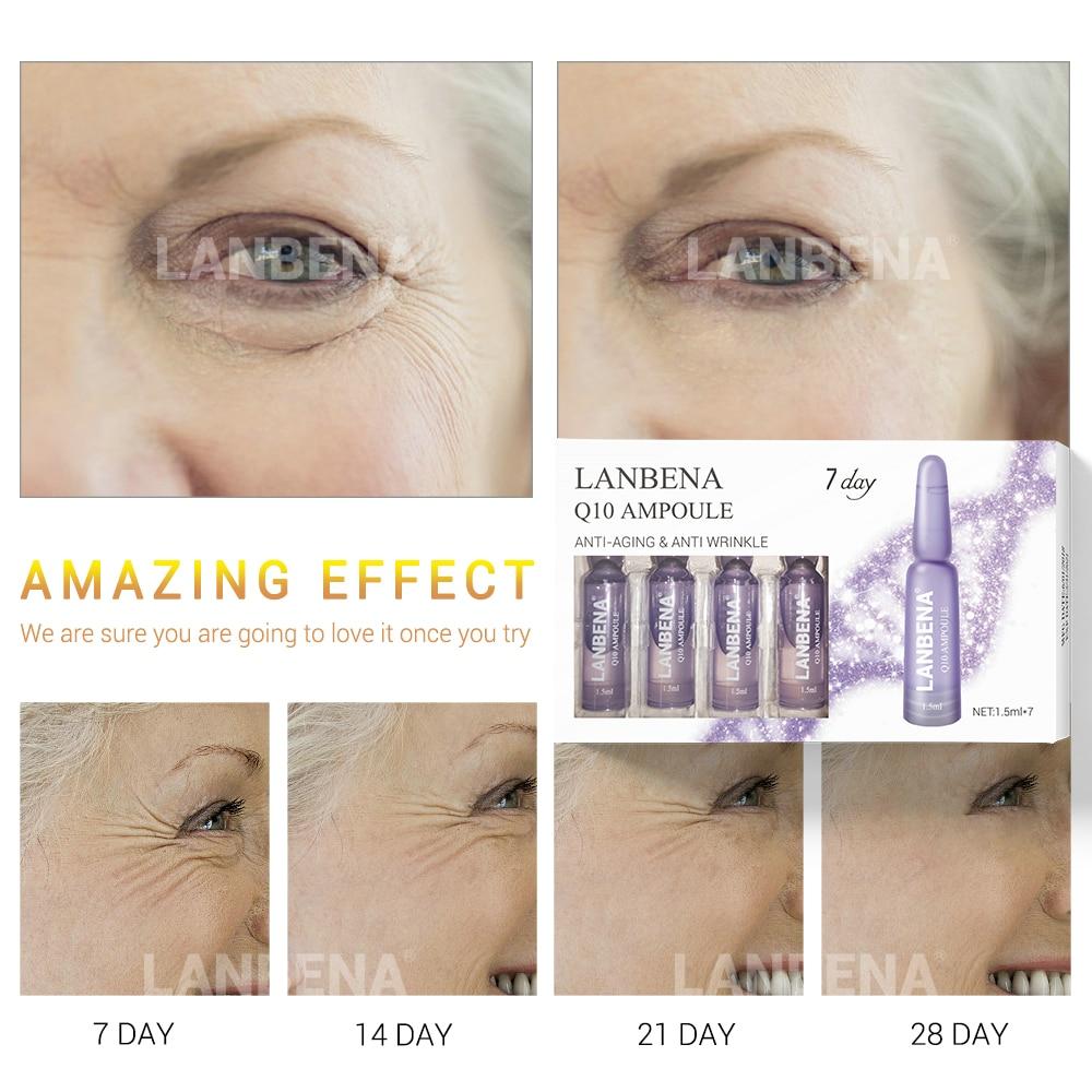 LANBENA Beauty For 7 Days Ampoule Serum Hyaluronic Acid Vitamin C 24K Gold Retinol Q10 Ceramide Anti Aging Wrinkle Moisturizing in Serum from Beauty Health