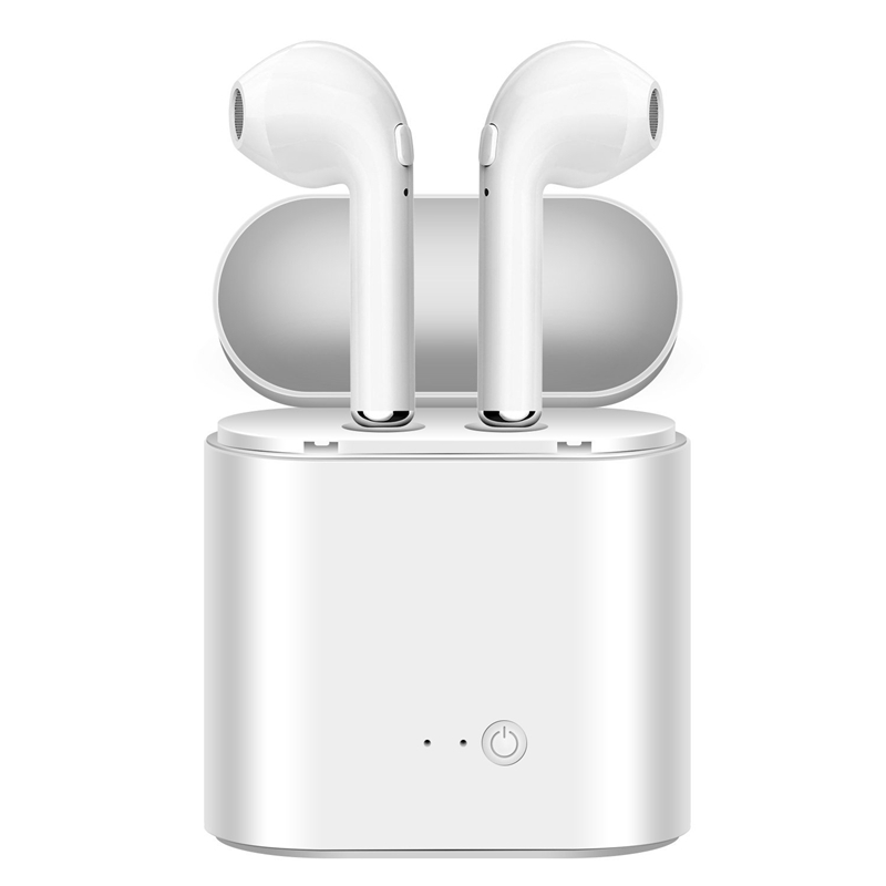 I7 I7s TWS Wireless Bluetooth Earphones In-Ear Music Earbuds Airpod Stereo Headset For Iphone X 6 7 8 Samsung Xiaomi Retail Box i7s tws true wireless earphones bluetooth headset hands free stereo earbuds with mic double earpiece for iphone samsung xiaomi