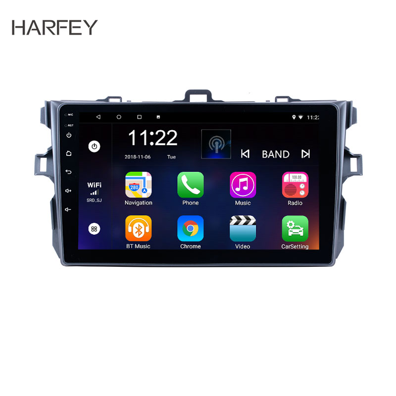 Harfey Car <font><b>Multimedia</b></font> player 2 DIN Android 8.1/9.0 Car GPS For <font><b>Toyota</b></font> <font><b>Corolla</b></font> 2006 2007-2009 2010 <font><b>2011</b></font> 2012 with 3G Bluetooth image