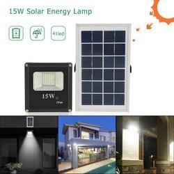 41LED Flutlicht 15W Solar Wand Lichter Outdoor Scheinwerfer Garten Decor Lampe wasserdichte lampe