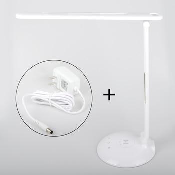 Беспроводной зарядный выход Светодиодная настольная лампа перезаряжаемая бесступенчатая Затемняющая лампа для чтения сенсорный выключат