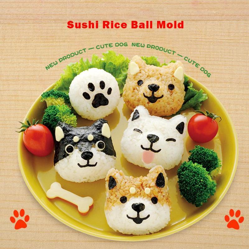 5 шт./компл. милый мультфильм суши нори форма для риса Декор резак форма для приготовления бенто сэндвич DIY инструмент кухонные принадлежности-0