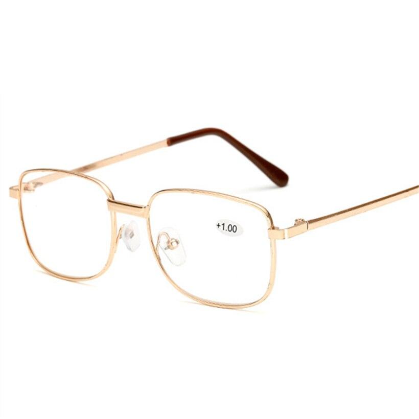 XojoX Mens Mulheres Óculos de Leitura Óculos Para Presbiopia Idoso de Metal  Quadro Hipermetropia Dioptria 1.0 81b132a073