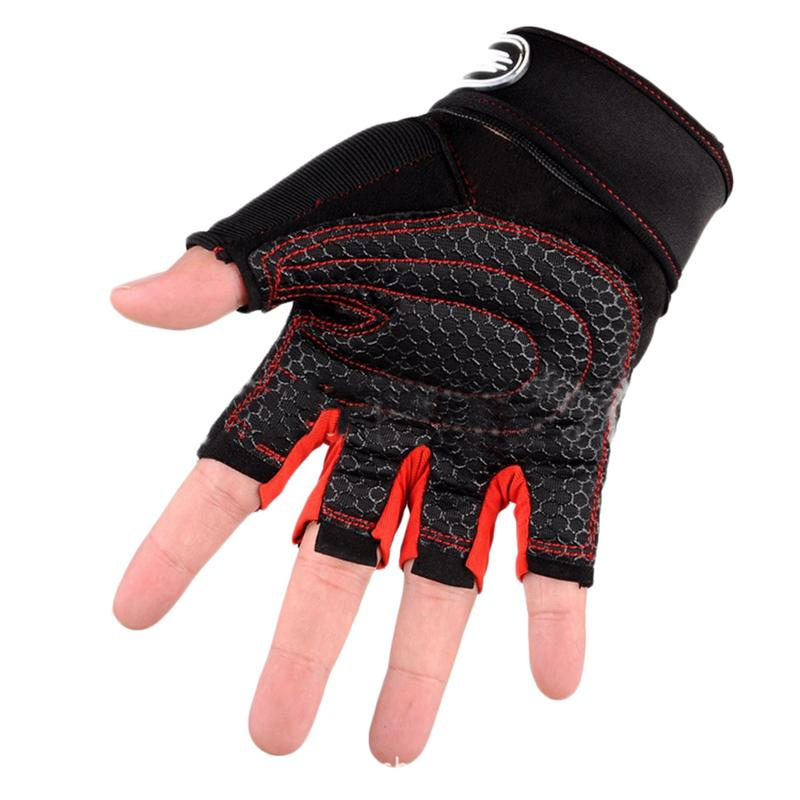 100% New And High Quality Anti Slip Durable Gym Gloves Training Workout Weight Lifting Glove Half Finger For Men And Women