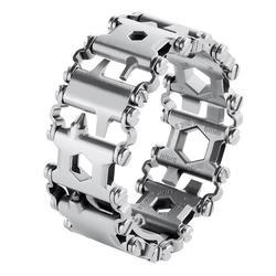 Ferramenta multifuncional pulseira do passo pulseira de aço inoxidável ao ar livre parafuso driver ferramentas kit viagem amigável wearable ferramenta multitool