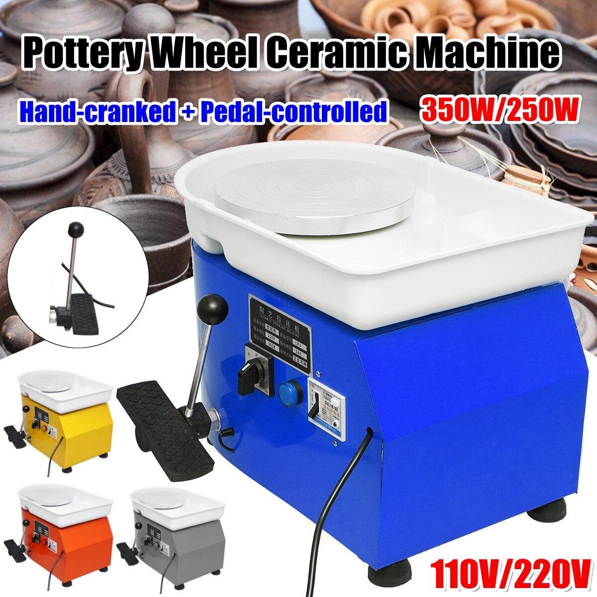 110 V/220 V poterie formant la Machine 250 W/350 W roue de poterie électrique argile pour travaux pratiques outil avec plateau pour machine d'apprentissage en céramique