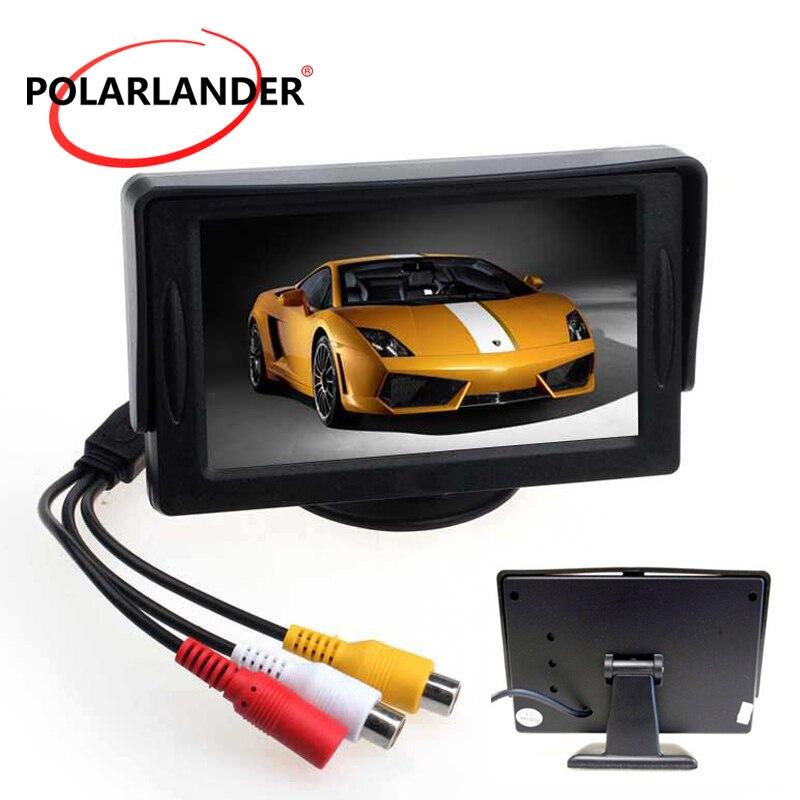 4.3 Cal kolorowy wyświetlacz TFT LCD Monitor samochodowy z 2Ch wejście wideo do tyłu widok kamery lub DVD odwrotnej kolejności