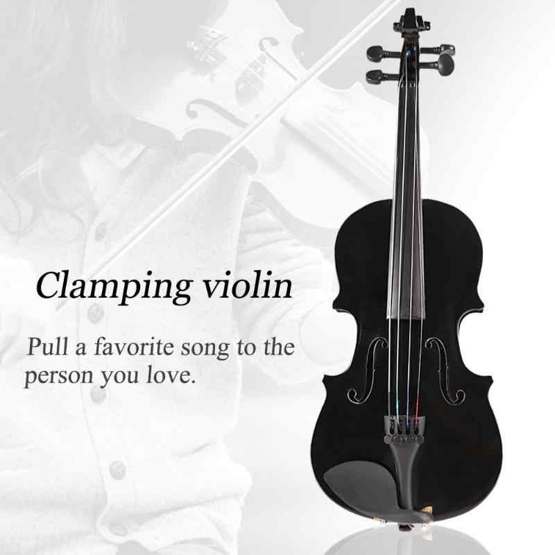 1/8 Kids Children Natural Acoustic Violin Fiddle with Case Bow Rosin  Musical Instrument Gifts composite wood Material