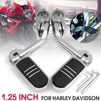 32mm 1.25 Long Adjustable Chrome Rear Foot Peg Pedals Footrest Mount For Harley Davidson with 3 Allen Keys