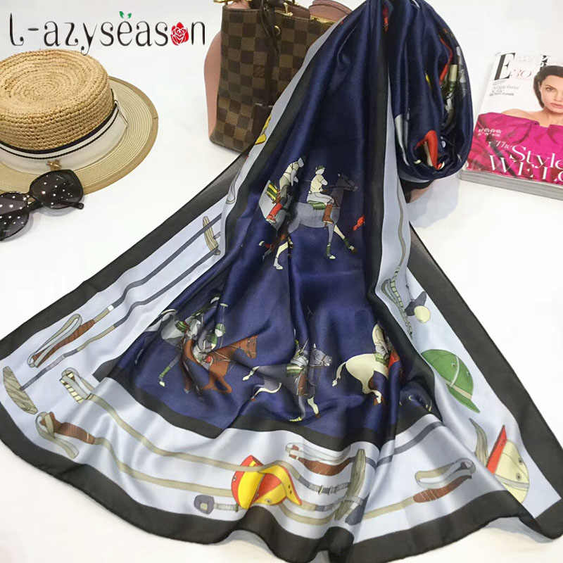 2019 модный великолепный шелковый шарф Роскошные женские брендовые шарфы для женщин шаль пашмины высокого качества печать хиджаб 180*90 см