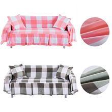 Cubierta de sofá cama vintage cuadrícula impresa sofá cama cubierta de asiento elástico cubierta de gran tamaño sofá cama 1 2 3 plazas fundas de sofá