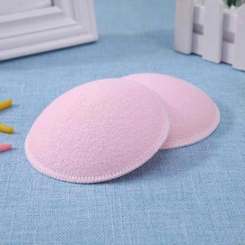 2 uds. Sujetador de lactancia para mujeres embarazadas almohadillas para senos almohadillas de alimentación lavables almohadillas de lactancia gruesas de algodón