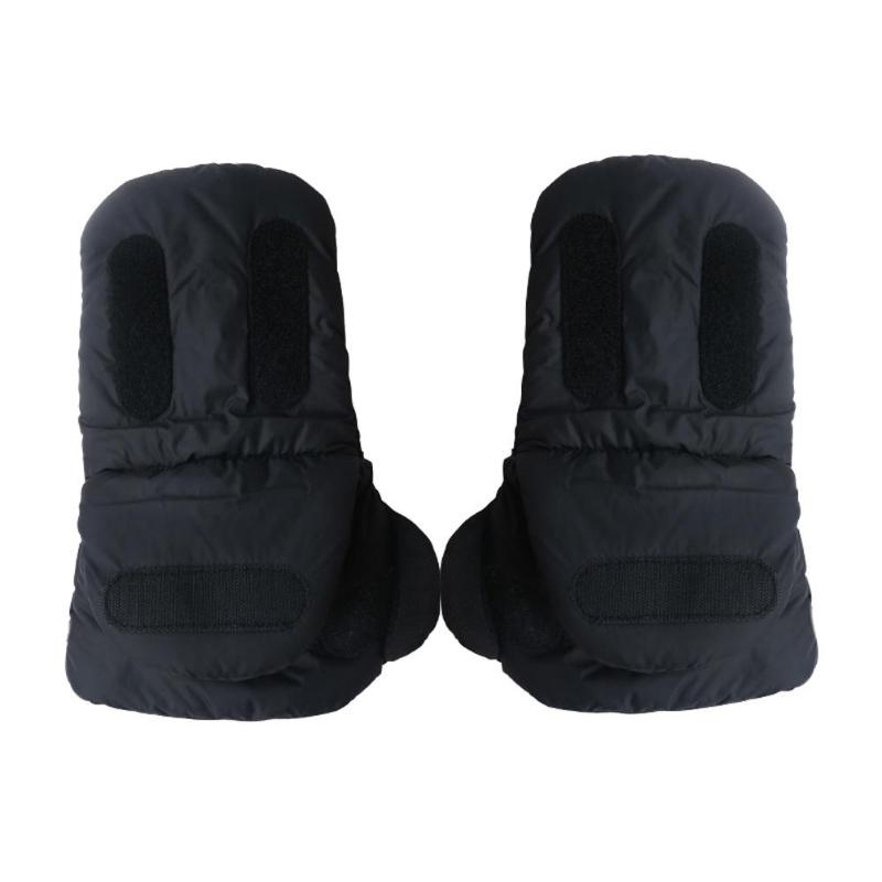 Baby Carriage Mitten Pushchair Thicken Plush Cloth Hand   Cover  Winter Windproof Warm Gloves Fleece Mittens