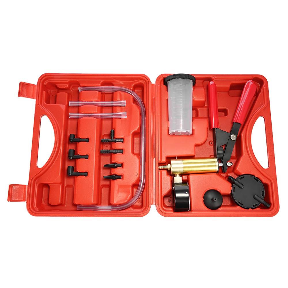 16 in 1 Brake Fluid Bleeder Oil Change Hand Held Vacuum Pistol Pump Tester Kit