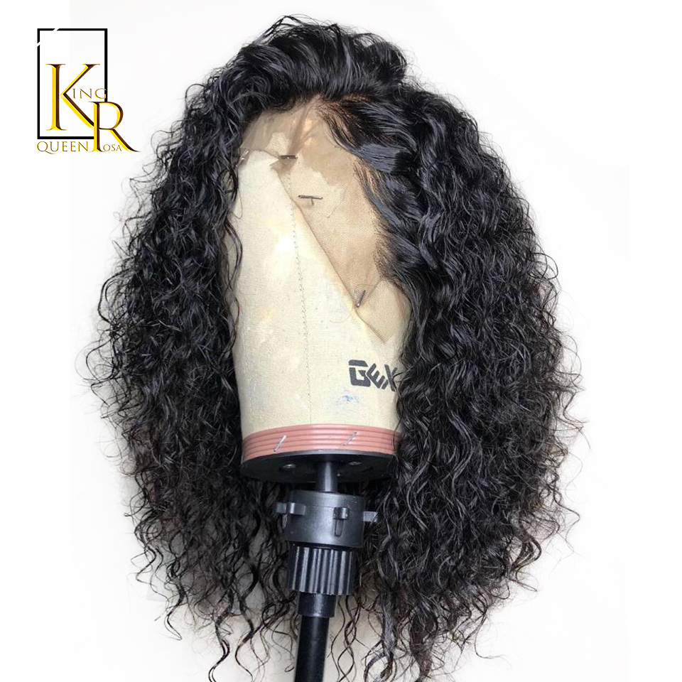 Curly Wig Lace Front Human Hair Wigs For Black Women Brazilian Full Frontal Baby Hair With