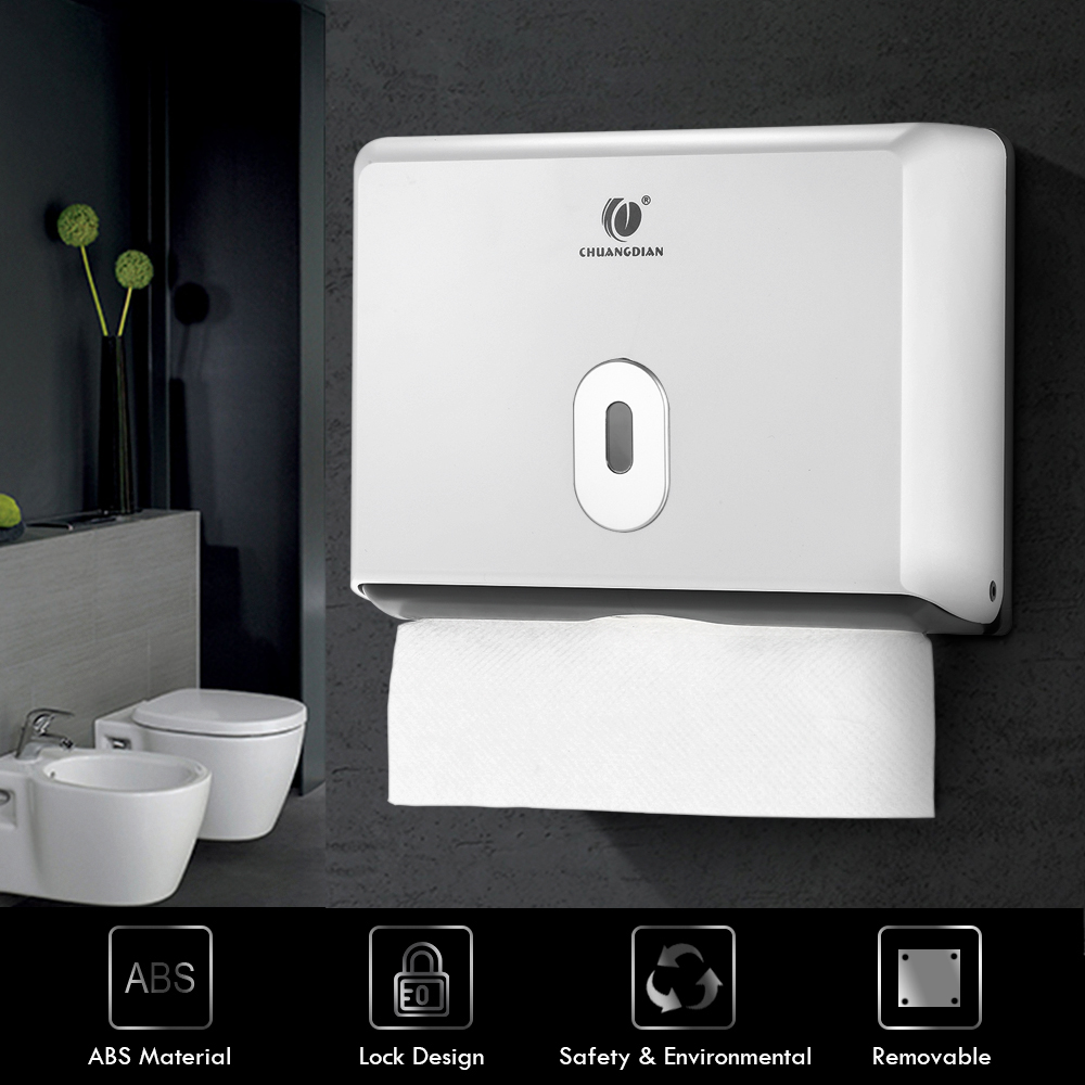 CHUANGDIAN Wall-mounted Bathroom Tissue Dispenser Tissue Box Holder for Multifold Paper Towels Kitchen Toilet Paper Boxes Holder