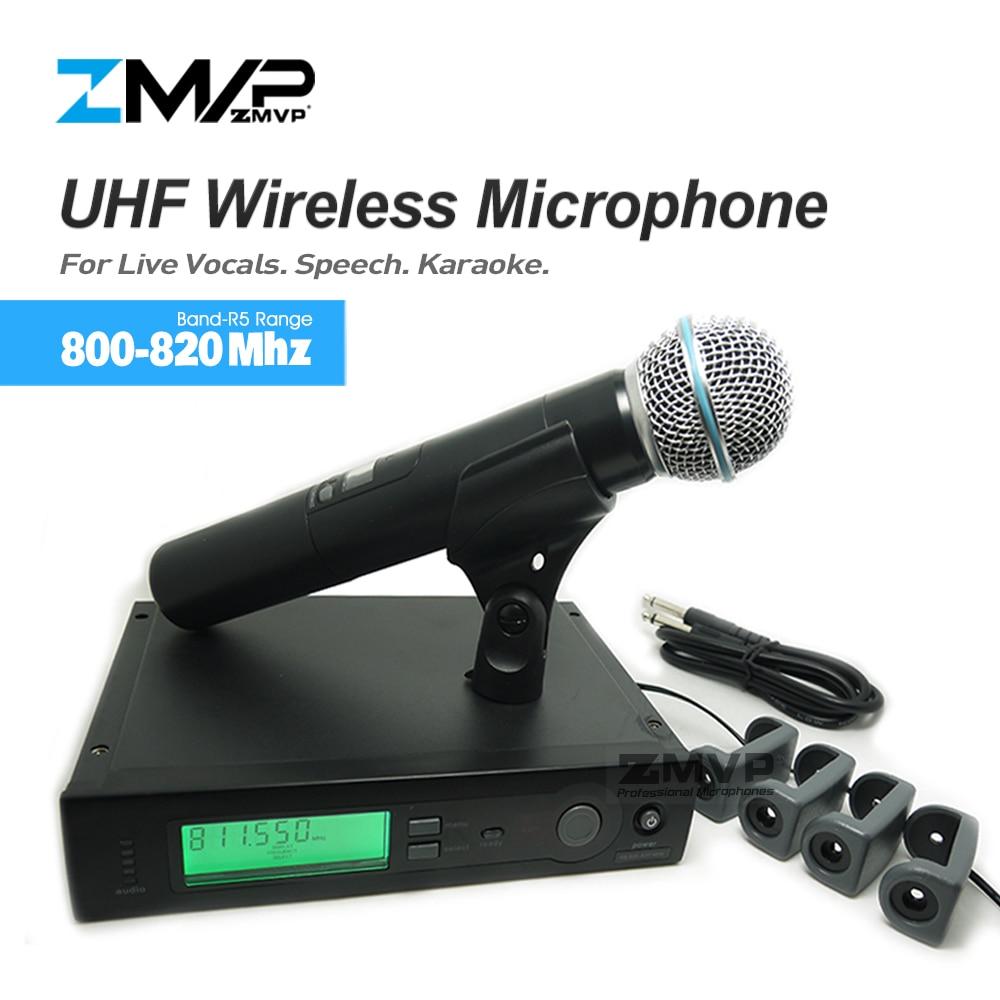 ZMVP UHF Professional SLX24 BETA58 Wireless Microphone Cordless SLX Karaoke System With Handheld Transmitter Band R5