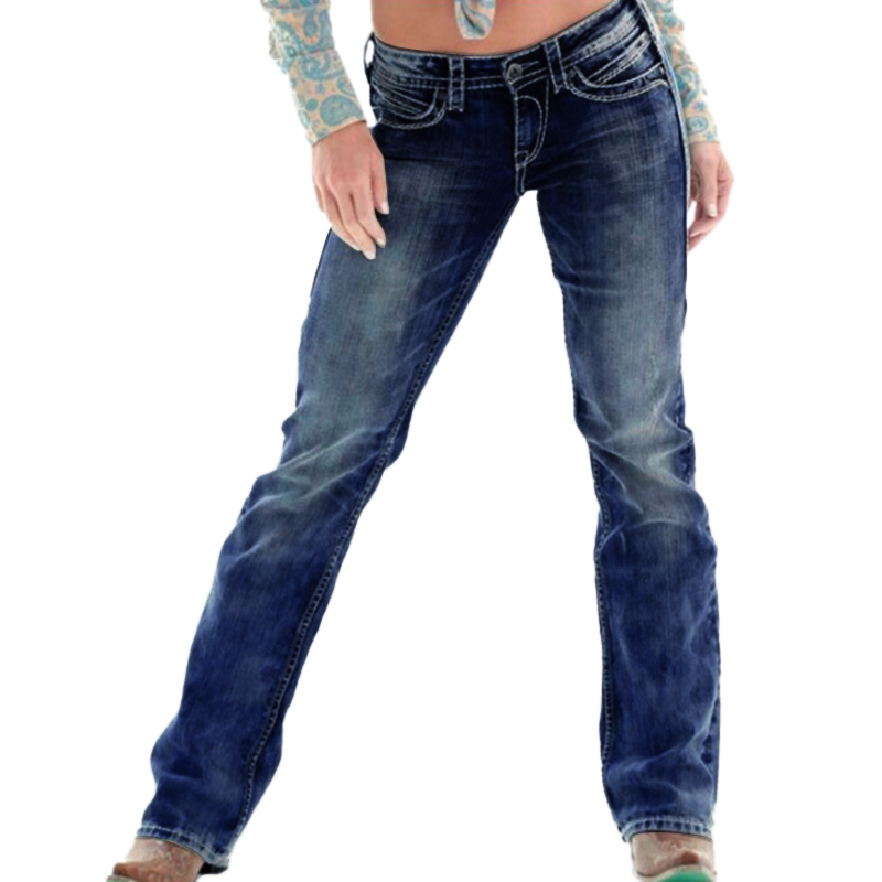 Women Long casual skinny   Jeans   Women Basic Class Mid Waist Buttons   Jeans   pencil Denim Pants Plus Size