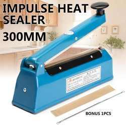 220V 300W Impulse Sealer Heat Package Sealing Machine Refrigerator Kitchen Food Sealer Plastic PP PE Bag Packing Tools EU Plug