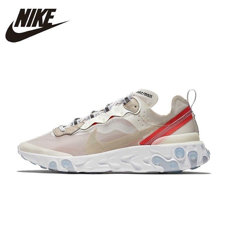 NIKE Réagir Élément 87 D'origine Hommes Et Femmes Chaussures de Course Mesh Respirant Soutien Sport Sneakers Pour Hommes Et Femmes Chaussures