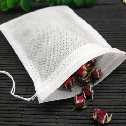 Tea Bags 100 Pcs/Lot Bags For Tea Bag Infuser With String Heal Seal 10 x 12 cm Sachet Filter Paper Teabags Empty Tea Bags Islamabad