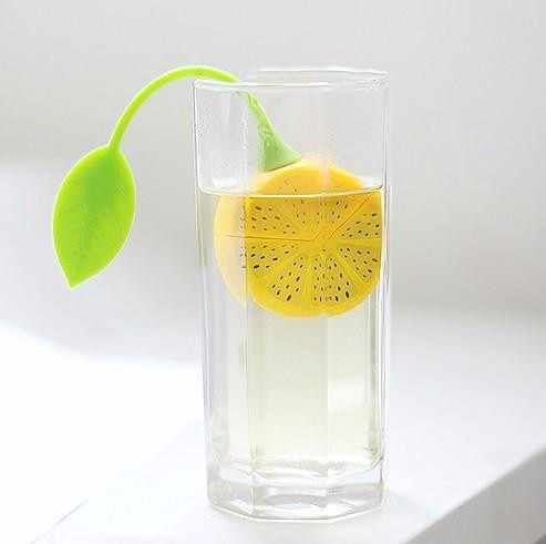 Tee Sieb Silikon Erdbeere Zitrone Design Lose Tee Blatt Sieb Tasche Kräutergewürzfilter Filter Werkzeuge