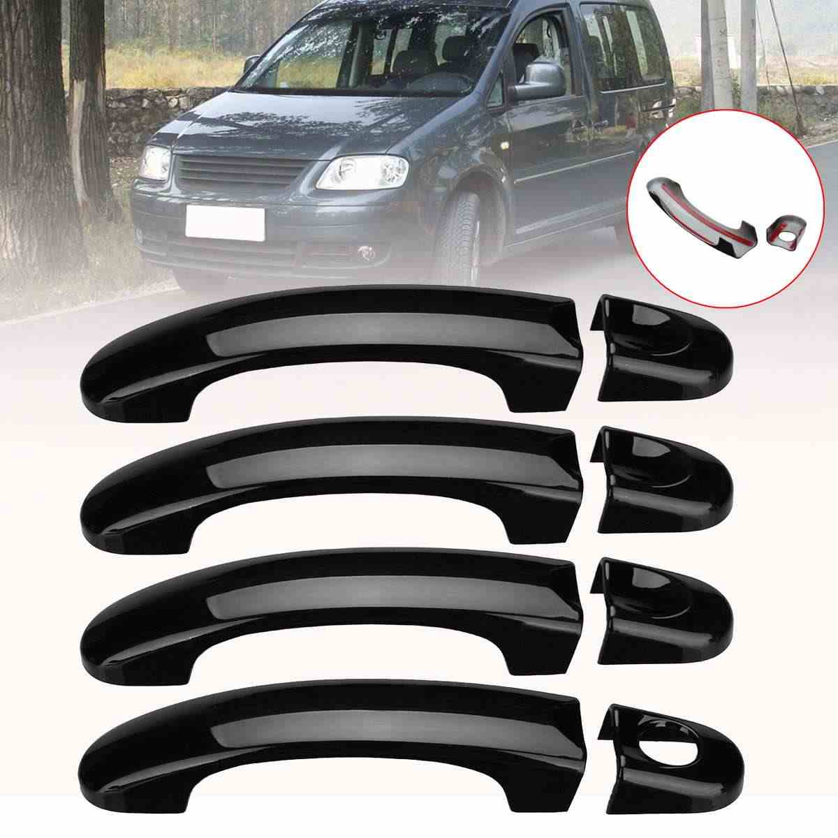 1 Set Car Door Handle Covers Trim For VW Transporter T5 T6 2003-2009 Car Exterior Door Handles ABS Gloss Black/Carbon Black