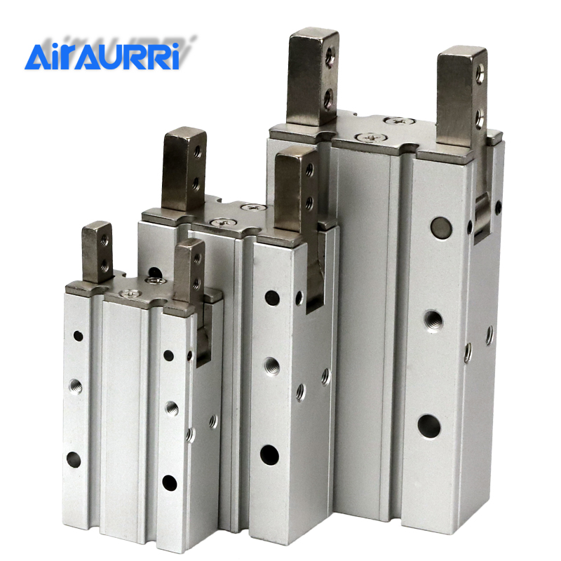 MHY2 10D 16D 20D 25D Double Acting Pneumatic Gripper SMC size  Y Type 180 Degree Angular Style Aluminium Clamps Bore 10-25mm