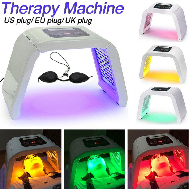 4 couleurs Machine de soins de la peau lumière LED photodynamique soins de la peau rajeunissement Photon Facial thérapie du corps outil de soins de rajeunissement
