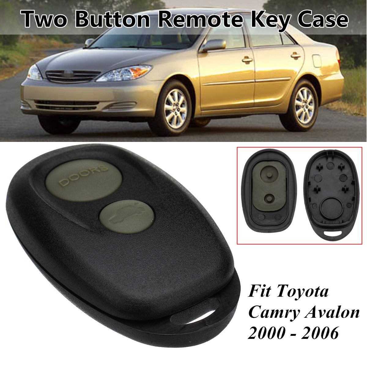 Battery For 2006 Toyota Camry: 2 Button Car Remote Key Case Control Case Shell For Toyota