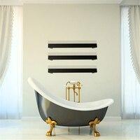 Polish/Matt Black color Free spacing towel rack wall mounted Towel Warmer heated towel rail single square Towel Bar HZ 924B