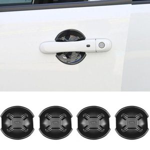 Image 2 - 4x ABS Black Car Door Handle Cover Bowl Trim For Jeep Renegade 2015 2018 Outlet Edge Scratch Guard Protector Accessories