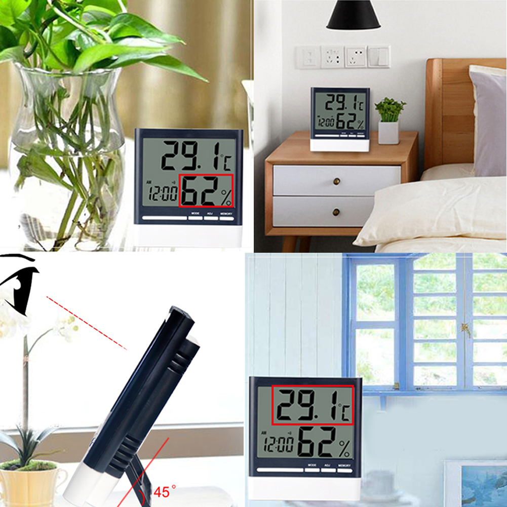 FREE SHIPPING Multifunction Thermometer Hygrometer Monitor Clock digital
