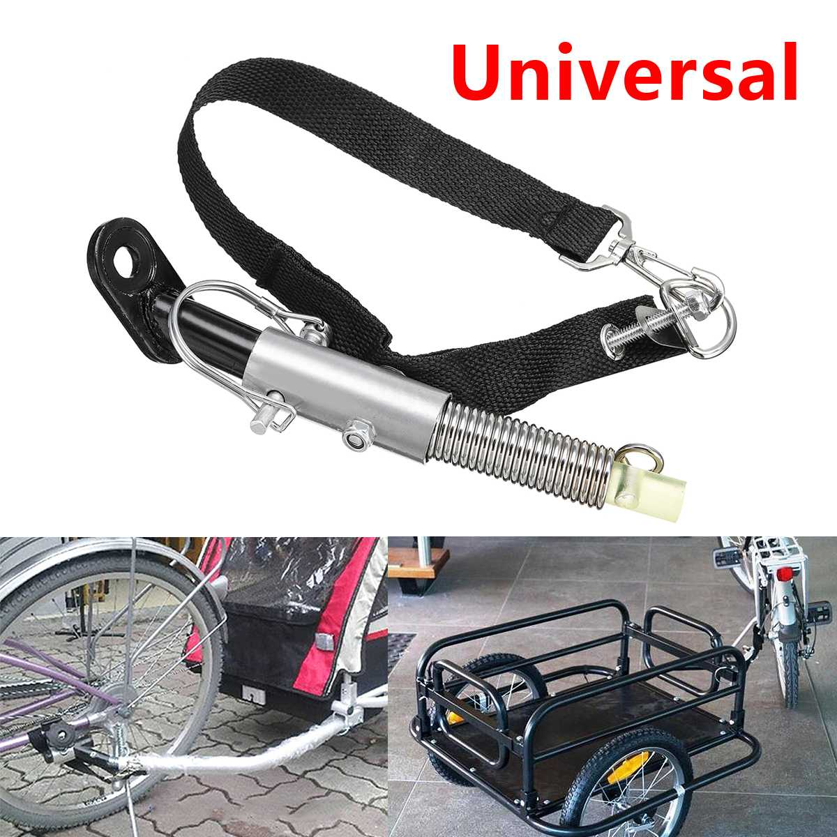 Bike Trailer Steel Linker Bicycle Trailer Classic Hitch Universal Model Baby Pet Coupler Hitch Linker