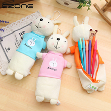 EZONE 1PC Cartoon Rabbit Shape Pencil Bag Plush Doll Case Korean Students Stationery Cute Pen School Office Supply