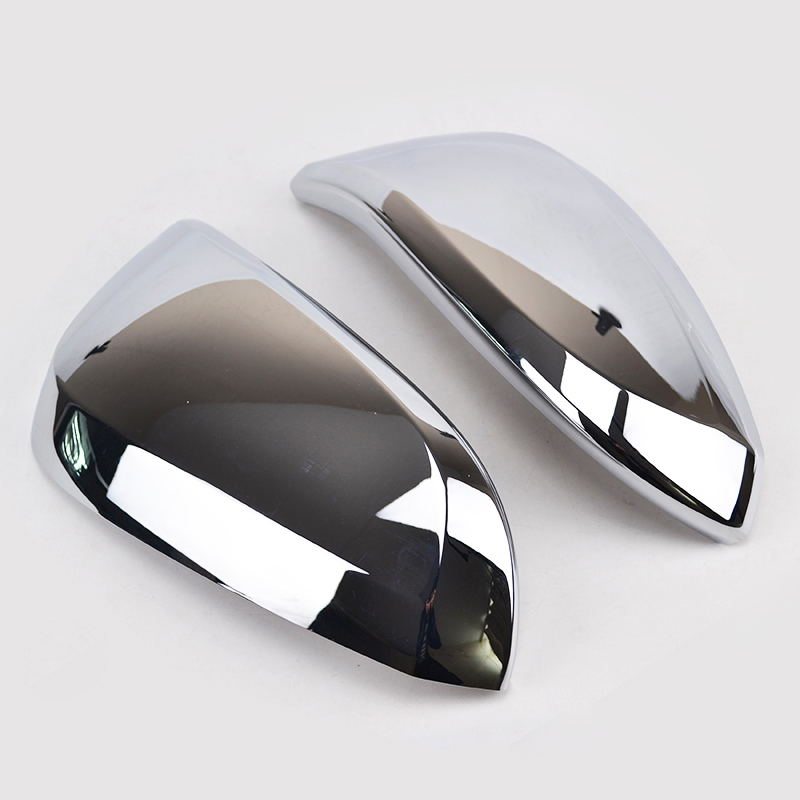 2xABS Chrome Rearview Side Mirror Cover Trim For Toyota RAV4 2013 2017 2018