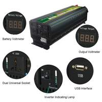 5000W 12V/24V to 220V Converter Power Inverter LCD Display 10000W