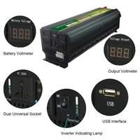 5000 Вт 12 В/24 В до 220 В Преобразователь мощности инвертор ЖК дисплей 10000 Вт