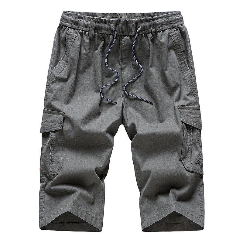 Ropa De Hombre Pantalon Corto Para Hombre Cheque 3 4 Longitud Casual Wear Cargo Pantalones De Combate Cintura Elastica Cefa Com Ar